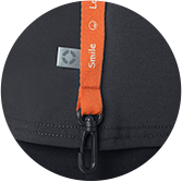 Details with a Smile: Code Happy smile clip antibacterial antimicrobial fabric scrub detail